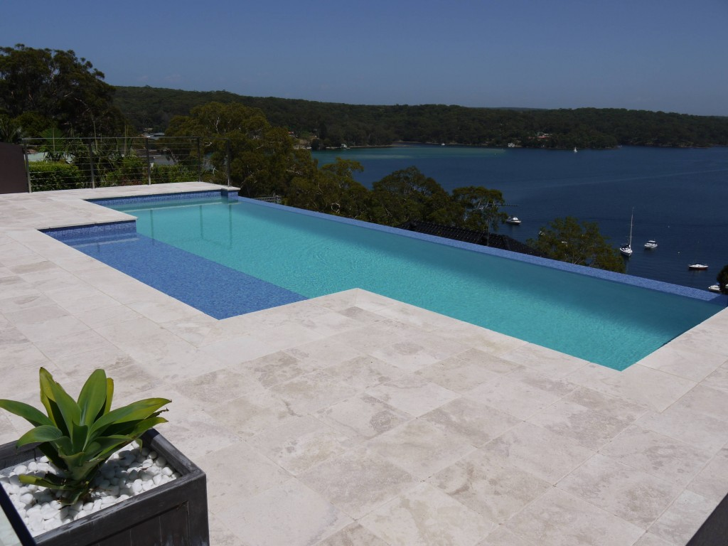 Travertine Pool Pavers And Coping Tiles Travertine Sydney - Bullnose tiles for pools