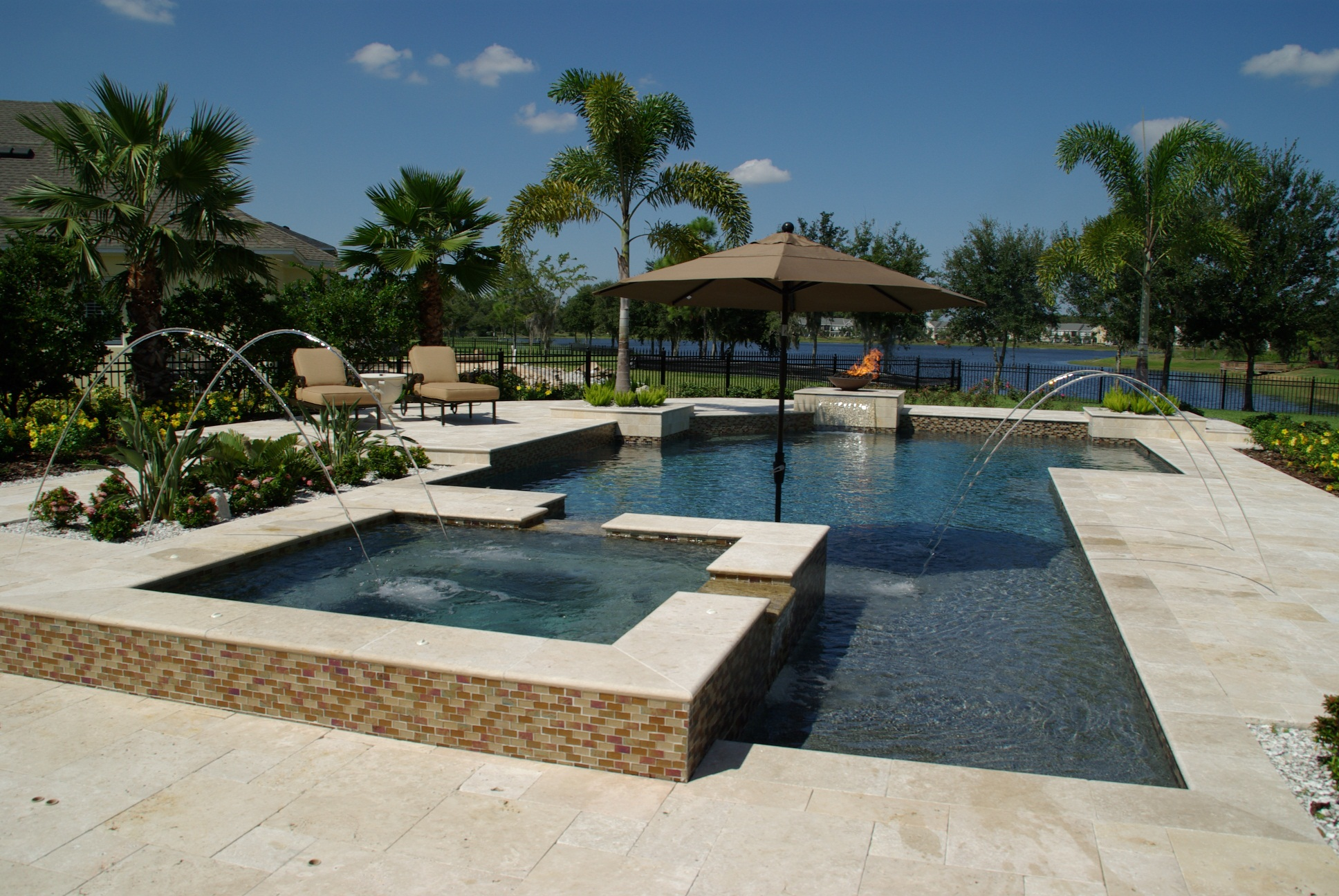 Travertine Pool Paving